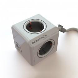 Strāvas sadalītājs Power Cube Extended ar USB un kabeli 1.5m