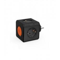 Strāvas sadalītājs Power cube Original Remote Single,melns ar slēdzi