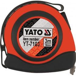 Mērlenta 3mx16mm ar magnētu Yato