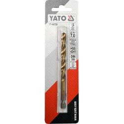 Metāla urbis HSS-TIN 7.0mm,HEX Yato