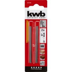 KWB by Einhell Ēveles asmeņi 204mm,2 gb